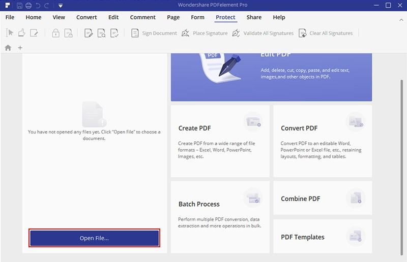 Import the PDF File