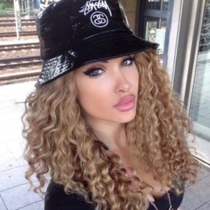 Curly Hair with Hat