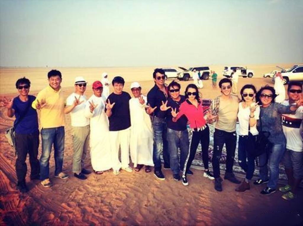 Sonu Sood and Jackie Chan at Desert Safari Dubai